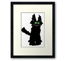 Jack the Fuzzy Black Cat Framed Print