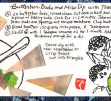 Butterbur Miso Dip Sticker