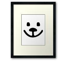 Teddy bear face Framed Print