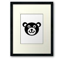 Teddy bear head Framed Print