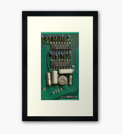 Circuit - recycling old electronics Framed Print