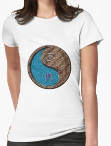 Cancer & Rooster Yin Earth Womens Fitted T-Shirt