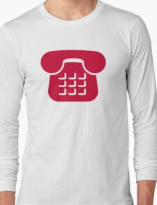 Red telephone icon Long Sleeve T-Shirt