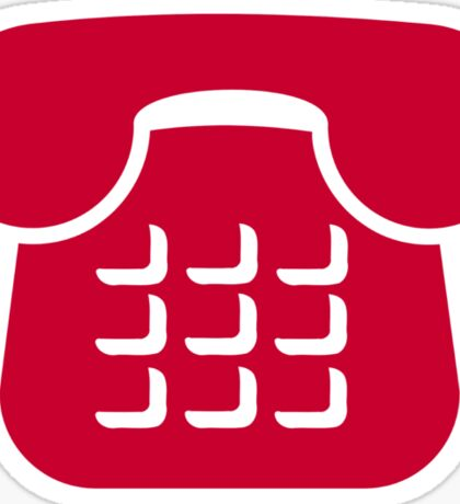 Red telephone icon Sticker