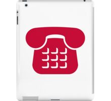 Red telephone icon iPad Case/Skin