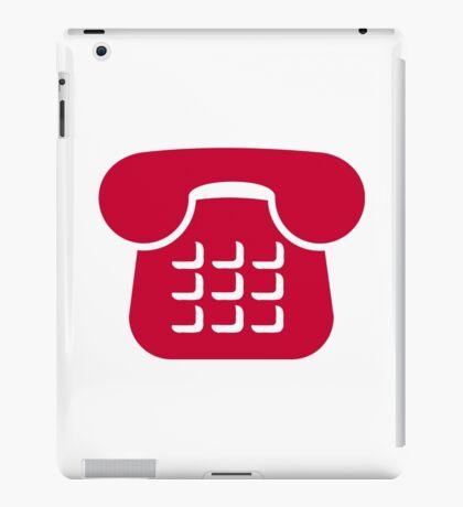 Red telephone icon iPad Case/Skin