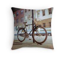 City Bicycle Throw Pillow