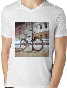 City Bicycle Mens V-Neck T-Shirt