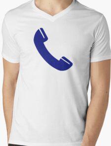 Telephone receiver Mens V-Neck T-Shirt
