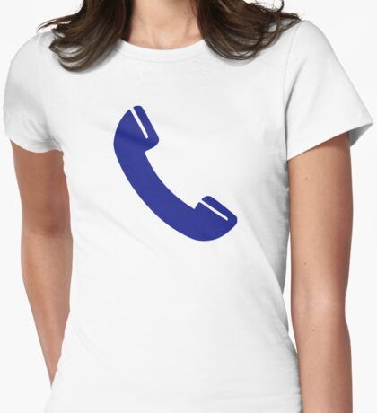 Telephone receiver Womens Fitted T-Shirt