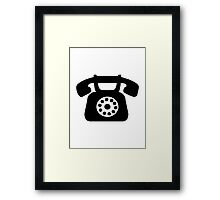 Telephone symbol Framed Print