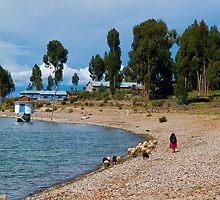 Amantani, island, Puno, Peru by juan jose Gabaldon