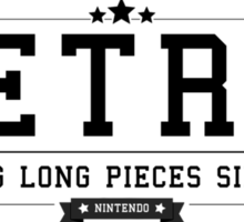 Tetris - Retro Black Clean Sticker