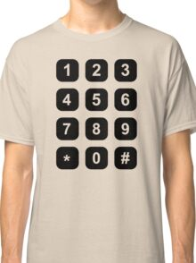 Telephone dial numbers Classic T-Shirt