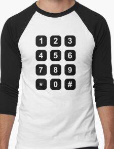 Telephone dial numbers Men's Baseball ¾ T-Shirt