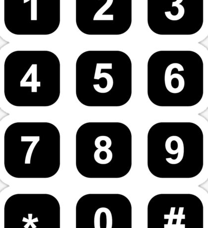 Telephone dial numbers Sticker