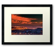 A Sunrise Over Golden Framed Print