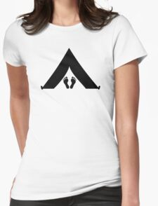 Tent feet Womens Fitted T-Shirt
