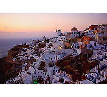 Sunset in Santorini Photographic Print