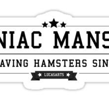 Maniac Mansion - Retro Black Clean Sticker