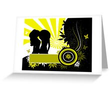 Grunge vector background Greeting Card