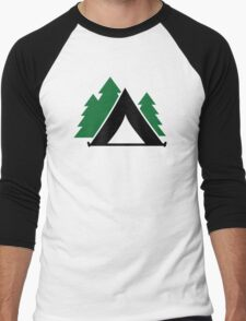 Camping tent forest Men's Baseball ¾ T-Shirt
