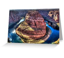 Horseshoe Bend on the Colorado River Greeting Card