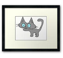 Petite Gray Kitten Framed Print