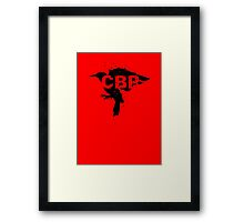 Crippled Black Phoenix Logo (Black) Framed Print