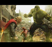 Marvel Team-Up: Thor, Hulk and Spider-Man by dmorson