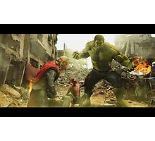 Marvel Team-Up: Thor, Hulk and Spider-Man Photographic Print