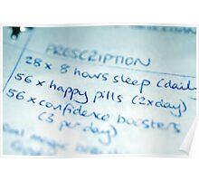 Happy Pills Prescription Poster