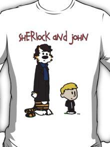 Sherlock Hobbes and John Calvin T-Shirt