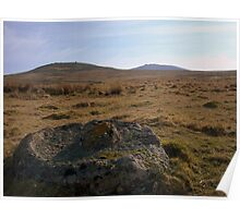 Dartmoor: Abandoned Millstone on Row Tor Poster