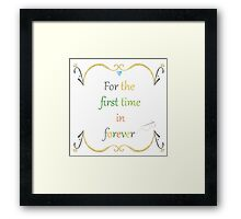 For the First Time in Forever Needlepoint Framed Print