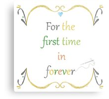 For the First Time in Forever Needlepoint Metal Print