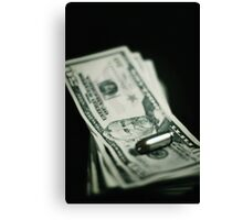 Cost of One Bullet Canvas Print