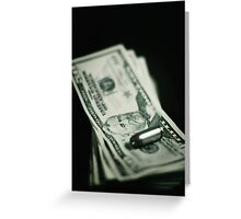Cost of One Bullet Greeting Card
