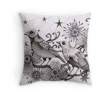 moonlight birds Throw Pillow