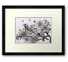 moonlight birds Framed Print