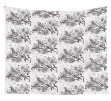 moonlight birds Wall Tapestry