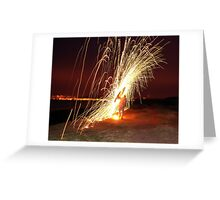 poi with a twist side view  Greeting Card
