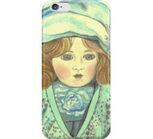 DOLL-PRINCESS - ANTIQUE FRENCH PORCELAIN-DOLL with blue Hat  iPhone Case/Skin