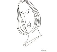 Abstract sketch of face VIII Photographic Print