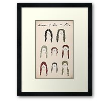 Ladies of Ice and Fire Poster Framed Print