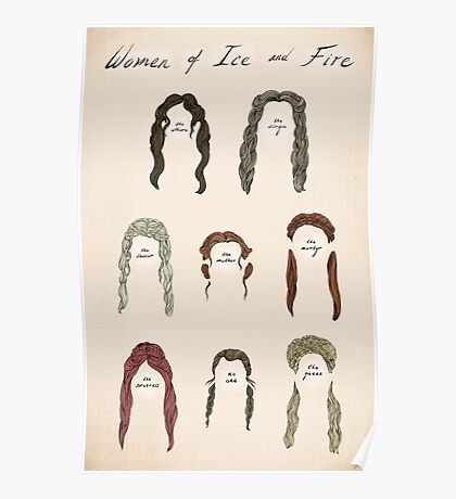 Ladies of Ice and Fire Poster Poster