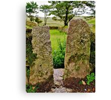 Granite Posts - Merrivale Canvas Print