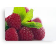 Raspberries and Mint Metal Print