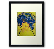 Life in Blue and Yellow Framed Print