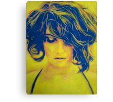 Life in Blue and Yellow Canvas Print
